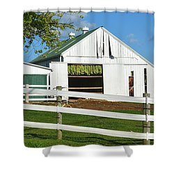 Lancaster County Tobacco Barn Shower Curtain