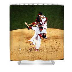 Lance Lynn Pitches Shower Curtain