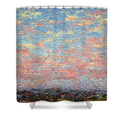 Land And Sky 3 Shower Curtain by James W Johnson