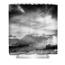 Land Of Fire Shower Curtain by Dave Bowman