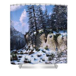 Land Of The Red Fox Shower Curtain by Ken Morris