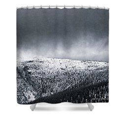 Land Shapes 2 Shower Curtain by Priska Wettstein