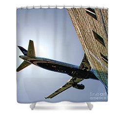 Landing By Diana Sainz Shower Curtain