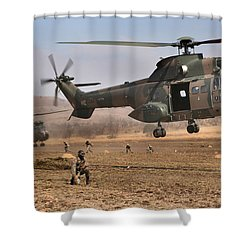 Landing Zone Shower Curtain by Paul Job