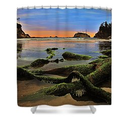 Lands End Shower Curtain by Benjamin Yeager