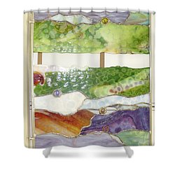 Landscape 2 Shower Curtain by Karin Thue
