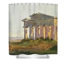 Landscape At Paestum Shower Curtain by Arthur Glennie