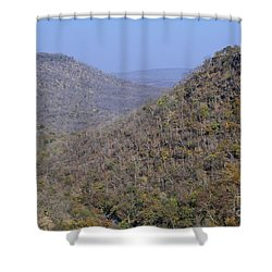 Landscape At Panna National Park In India Shower Curtain by Robert Preston