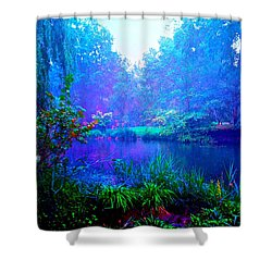 Blue Landscape Shower Curtain