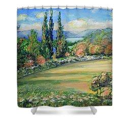 Landscape From Kavran Shower Curtain