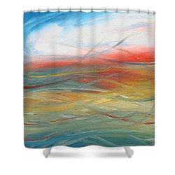 Landscape I Shower Curtain by Sheridan Furrer