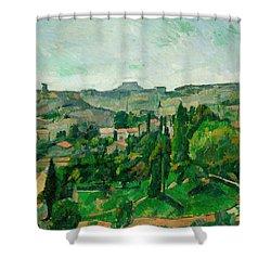 Landscape In The Ile-de-france Shower Curtain by Paul Cezanne