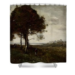 Landscape Shower Curtain by Jean Baptiste Camille Corot