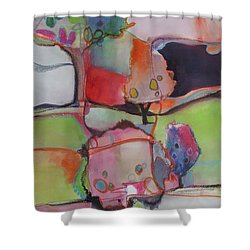 Shower Curtain featuring the painting Landscape by Michelle Abrams