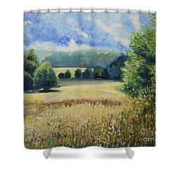 Landscape Near Russian Border Shower Curtain