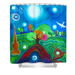 Landscape Of Ancient Dreams Shower Curtain