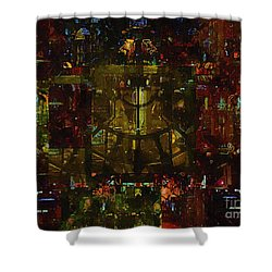 Landscape Of Hell Shower Curtain by RC deWinter