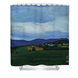Landscape Of Sola Norway Shower Curtain