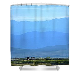landscape of North CA Shower Curtain