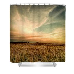 #landscape #skyscape #rural #fields Shower Curtain