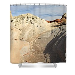 Landscape Swirls Shower Curtain by Adam Jewell