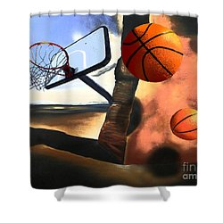 Landscape With Basketflies Shower Curtain