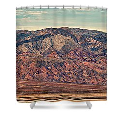 Landscape With Mountain Range Shower Curtain by Panoramic Images