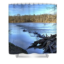 Landsford Canal-1 Shower Curtain by Charles Hite