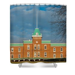 Lane Hall At Virginia Tech Shower Curtain by Melinda Fawver