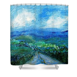 Lane To The Wicklow Hills Shower Curtain