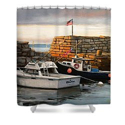 Lanes Cove Fishing Boats Shower Curtain