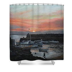 Lanes Cove Sunset Shower Curtain