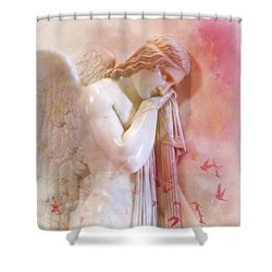 Shower Curtain featuring the photograph L'angelo Celeste by Micki Findlay