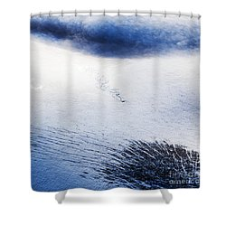 Langjokull Shower Curtain by Gunnar Orn Arnason