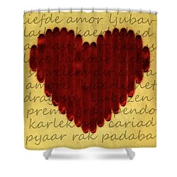 Languages Of Love Shower Curtain