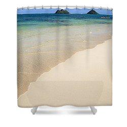 Lanikai And Mokulua Islands Shower Curtain by Brandon Tabiolo
