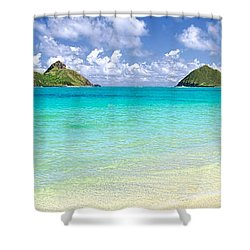 Lanikai Beach Paradise 3 To 1 Aspect Ratio Shower Curtain