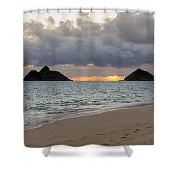 Lanikai Beach Sunrise 4 - Kailua Oahu Hawaii Shower Curtain by Brian Harig