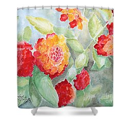 Lantana II Shower Curtain