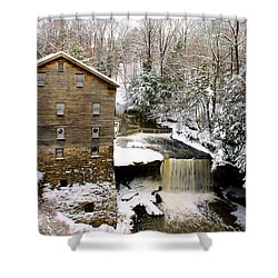 Lanterman's Mill In Winter Shower Curtain