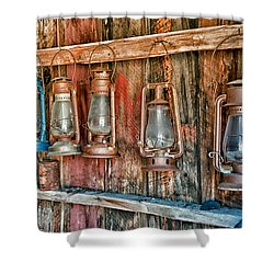 Lanterns Shower Curtain by Cat Connor