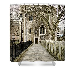 Lanthorn Tower Shower Curtain by Heather Applegate