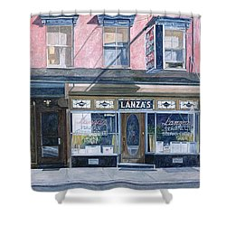 Lanza's Restaurant 11th Street East Village Shower Curtain by Anthony Butera
