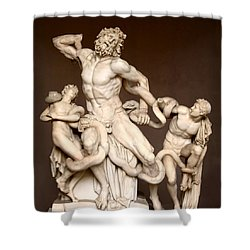 Laocoon And Sons Shower Curtain by Ellen Henneke