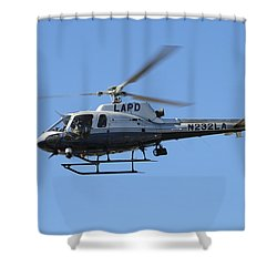 Lapd In Flight Shower Curtain by Shoal Hollingsworth