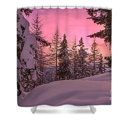 Lapland Sunset Shower Curtain