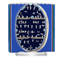 Lappish Shaman's Ritual Drum Shower Curtain by Vagabond Folk Art - Virginia Vivier
