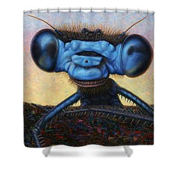 Large Damselfly Shower Curtain by James W Johnson