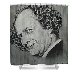 Larry Fine Of The Three Stooges - Where's Your Dignity? Shower Curtain