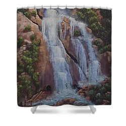 Las Brisas Falls Huatuco Mexico Shower Curtain